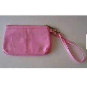 Lululemon Baby Pink Wristlet White Stitching